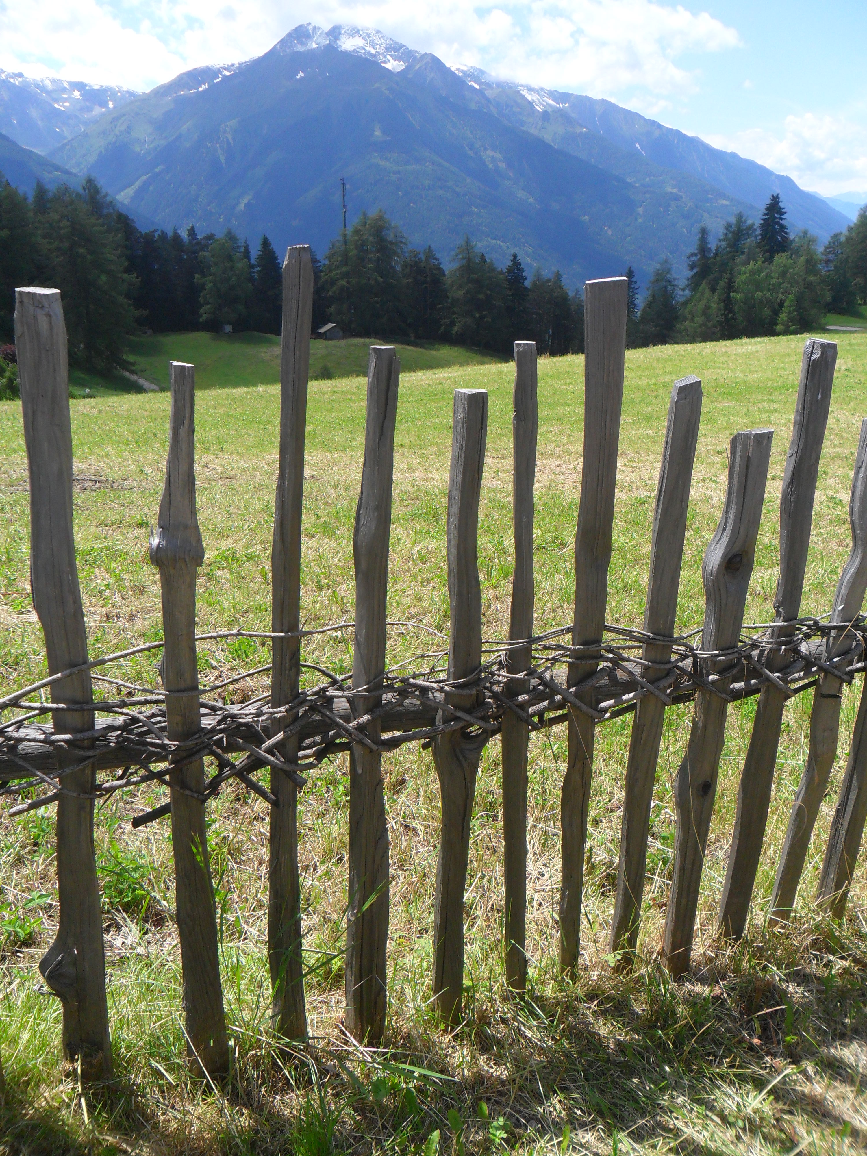 A traditionally-built fence in North Tyrol, Austria, July 2014.